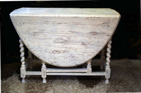 Shabby Chic Drop-Leaf Table