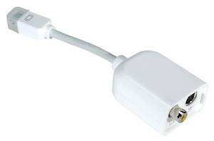 Apple A/V Port Adapters -iBook and Macbook - audio video cable