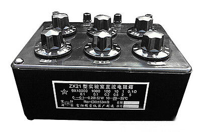 Zx21 Variable Decade Resistor Resistance Box Dc Resistance Box 099.9999 K