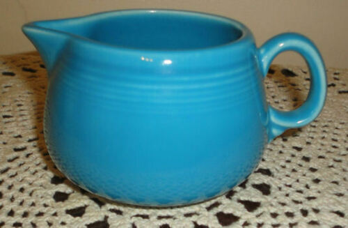 Homer Laughlin Fiesta PEACOCK Blue Creamer, EUC