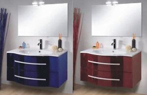 Mobile da bagno in 25 colori arredobagno moderno specchio for Mobile moderno bagno