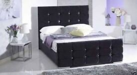 Black Crushed Velvet Bedframe as NEW £95 free delivery uxbridge area