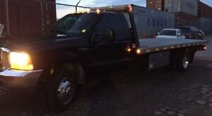1999 FORD F550 7.3L DIESEL 19FT FLATBED TOW TRUCK W/ WHEEL LIFT