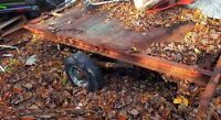 Old trailer frame for NEW TRAILER project