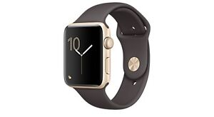 Apple Watch Series 2, 42mm Gold with Cocoa Sport Band