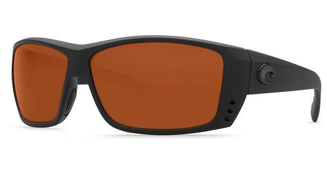 New Costa Del Mar Cat Cay Polarized Sunglasses 580G Glass Blackout/Copper
