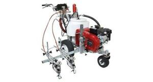 TITAN POWRLINER 6955 2 GUN PARKING LOT LINE PAINTING STRIPING MACHINE ASPHALT PAINT SEALING WATER GRACO