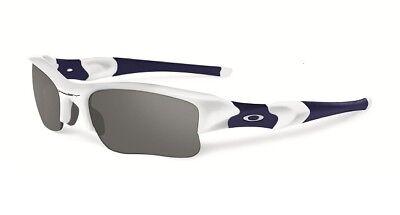 Oakley Flak Jacket Xlj Sunglasses Polished White Black Iridium 03 943