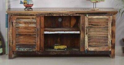 Aparador o Mesa para Televisor Vintage de madera maciza