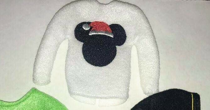 """Mickey Inspired Elf Sweater Elf Clothes 12"""" Doll Sweater Barbie on the Shelf"""