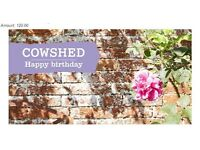 Cowshed spa and shop £120 voucher unwanted gift