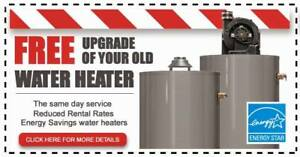 Free Rental Hot Water Heater Upgrade - Call Today - Rent To Own