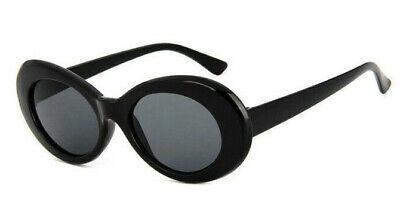 Sonnenbrille Oval Vintage Retro Kurt Cobain Nirvana Brille Hype Schwarz 2020