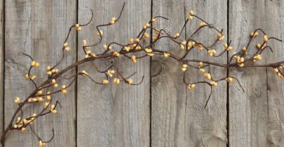 "Pip Berry Wispy Garland in Old Gold - 60"", 5', 5 ft - Mustard for sale  Columbus"