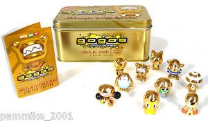 GOGOS CRAZY BONES GOLD SERIES LIMITED EDITION COLLECTOR TIN 10 RARE LOT CASE BOX