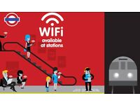 Unlimited Wifi Access Pass on London Underground Tube