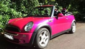 Hot pink mini one convertable, 2006, petrol, manual, Perfect for summer!