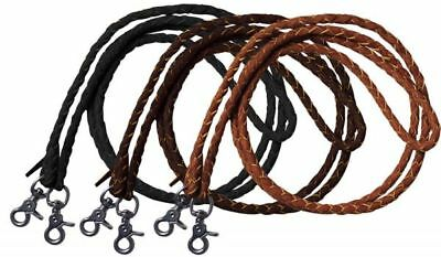 Leather Round Rein - Western ROPING REINS 7' Long x 1/2