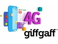 GiffGaff sim with £5 FREE credit