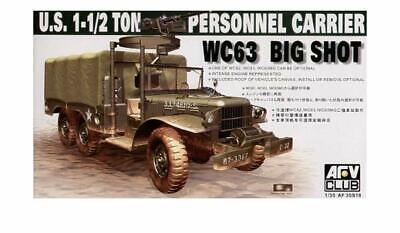 AFV Club 35S18 WC63 1 1/2 ton PERSONNEL CARRIER TRUCK Big Shot model kit 1/35