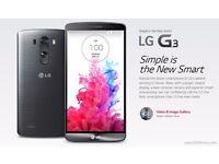 New in Box LG G3 LG-D855 16GB Smart Phone - Grey - Unlocked