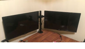 x2 of LG 24MT48DF 24-inch HD Ready Widescreen 1080p LED TV with Desk Mount