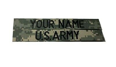 ACU Custom Name Tape & US ARMY Tape set - Military