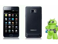 SAMSUNG GALAXY S2 16 GB IN BLACK UNLOCKED TO ALL NETWORK