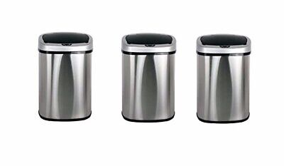 iTouchless IT13MXP Extra-wide Stainless Automatic Sensor Trash Can 13-gallon