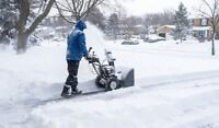 Snow clearing of driveways