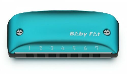 Baby Fat 7 Hole Harmonica Regular, NM or Paddy -Looks Cool-Plays Easy USA DEALER
