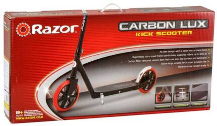 Razor Carbon Lux Scooter - BNIB - Unwanted Gift - Red & Black