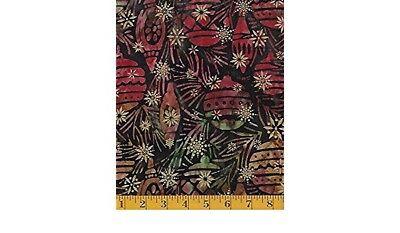 Batik Fabric - Noel 4 Christmas Bulb Ornament Pine Needles - Robert Kaufman YARD (Batik Ornaments)
