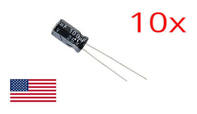 14pcs 1000uF 16V Axial Electrolytic Capacitor K50-29 USSR Military NOS