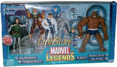 FANTASTIC FOUR Marvel Legends 5-FIGURE VARIANT BOX SET
