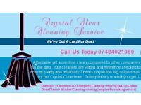 Crystal Clear Cleaning Service - Prestine but affordable cleans now available in your area!!!