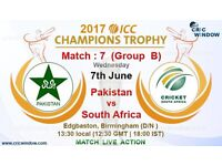Pakistan v S Africa Icc champions trophy 2017 tickets x2