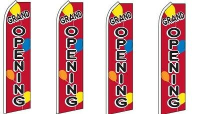 Grand Opening Balloon King Size Swooper Flag Pack Of 4 Hardware Not Included