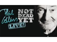 Phil Collins Hospitality Tickets x 2 FRONT ROW Amplify with VIP entrance, food and drinks