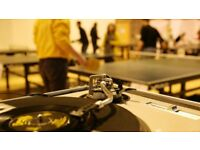 Wiff Waff Wednesday: table-tennis night in Leith!