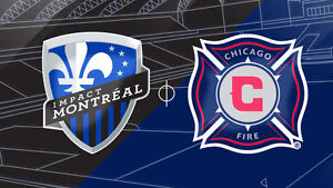 Tickets for Montreal Impact vs. Chicago Fire game.