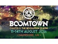 1x Boomtown 2016 ticket for sale!