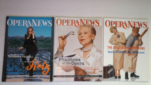OPERA NEWS 3 Magazine Lot 1999 Renata Scotto 2002 Barbara Frittoli Patti LuPone