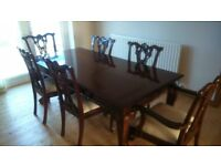 Dining Table and Chairs. 6 place, Rectangular, Barker and Stonehouse