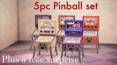 Animal Crossing New Horizons Pinball Machine Full Set Of 5