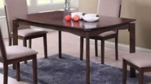 My Style Collection 26453 Triomphe 4-Seating Rectangular Dining Table - Espresso ***Assembled***