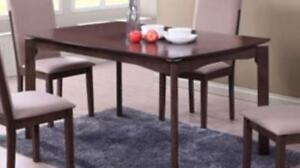 MY STYLE COLLECTION 26453 Triomphe Modern 4-Seating Rectangular Casual Dining Table - Espresso (New other)