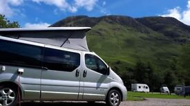 4 Berth Campervan for sale, Professionally fitted, years MOT, reversing cam, front & back dash cam