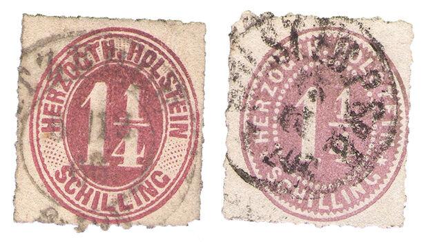 Ein Stuck deutscher Geschichte Briefmarken aus SchleswigHolstein aus der Zeit vor 1945