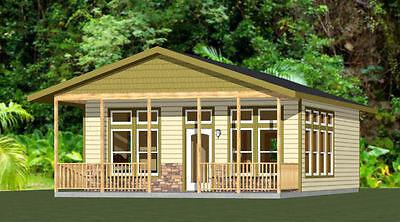 24X30 House    Pdf Floor Plan    720 Sq Ft    Model 1B